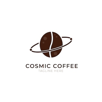 Modèle de logo de café cosmique. étiquettes de café vintage modernes. illustration vectorielle