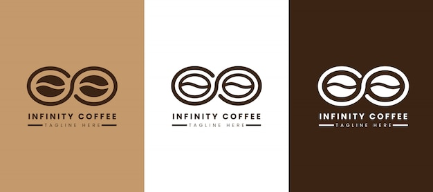 Modèle de logo de café infini