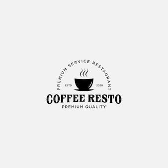 Modèle de logo de café vintage