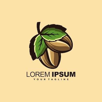 Modèle de logo de café