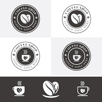 Modèle de logo café