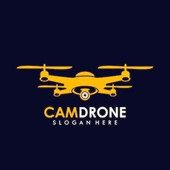 Modèle de logo de caméra drone