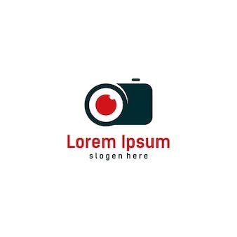 Modèle de logo de caméra, logo photo