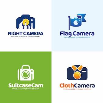 Modèle de logo de caméra unique créatif