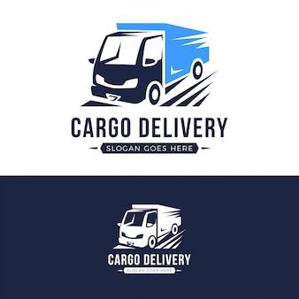 Modèle de logo de camion de livraison de fret