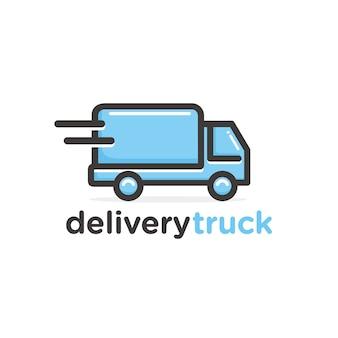 Modèle de logo de camion de livraison