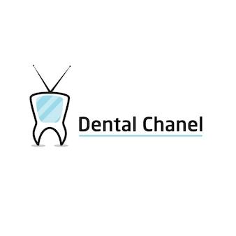 Modèle de logo de canal dentaire