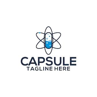 Modèle de logo de capsule