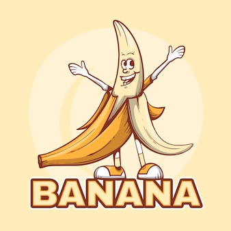 Modèle De Logo De Caractère Banane Vecteur gratuit