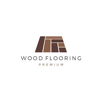 Modèle de logo de carreau de bois en granit vinyle parquet