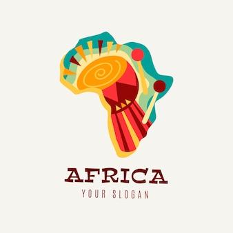 Modèle de logo de carte africaine colorée