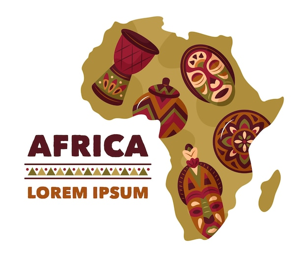 Modèle de logo de carte afrique