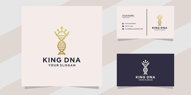 Modèle de logo et carte de visite king adn