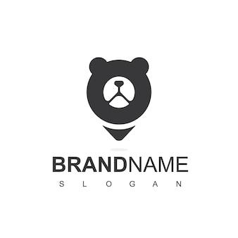 Modèle de logo de centre pour animaux de compagnie