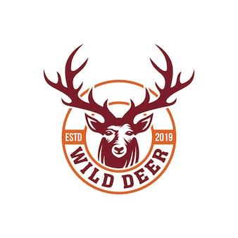 Modèle de logo de cerf