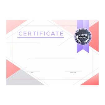 Modèle de logo de certificat