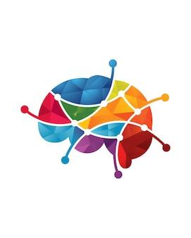 Modèle de logo de cerveau