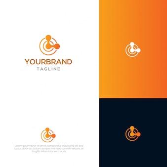 Modèle de logo de chaîne de bloc