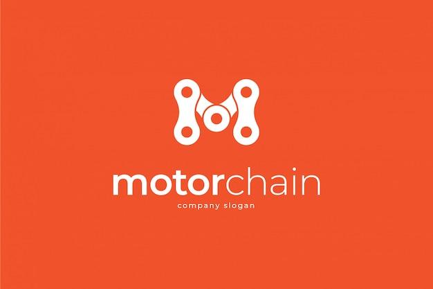 Modèle de logo de chaîne de moto m