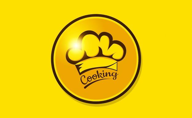 Modèle de logo de chapeau de chef. logo du restaurant design inspiration. logo de boulangerie