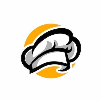 Modèle de logo de chapeau de chef