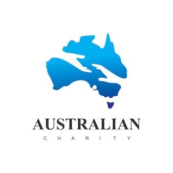 Modèle de logo de charité australienne