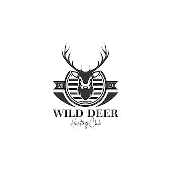 Modèle de logo chasse au cerf