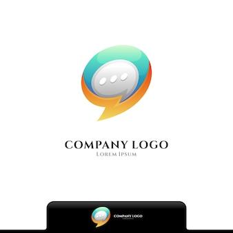 Modèle de logo de chat flash