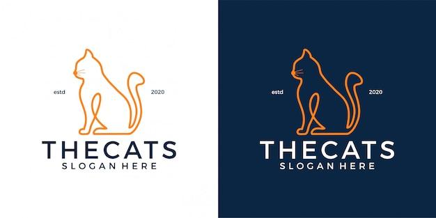Modèle de logo de chat