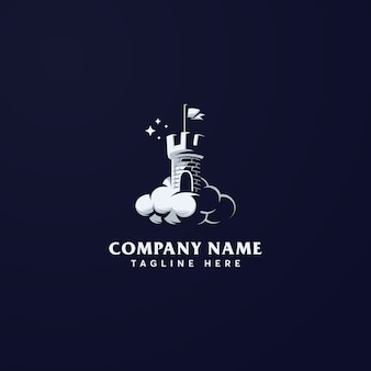 Modèle de logo de château de rêve