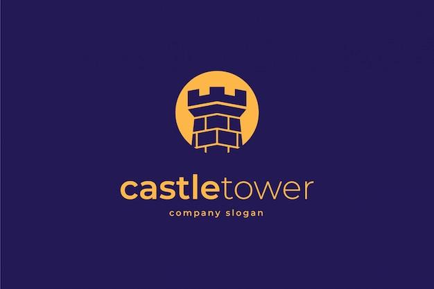 Modèle de logo de château