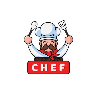 Modèle de logo de chef