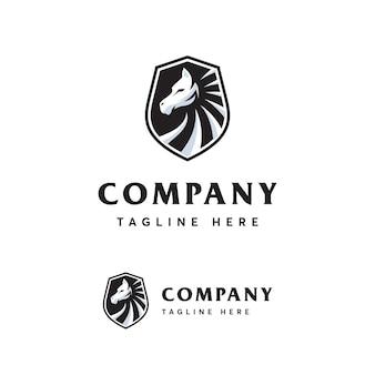 Modèle de logo cheval premium