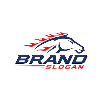 Modèle de logo de cheval