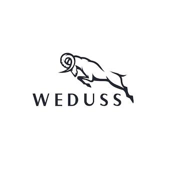 Modèle de logo de chèvre