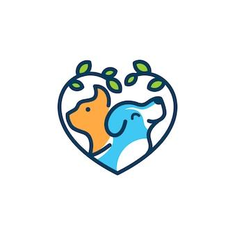 Modèle de logo chien chat vétérinaire