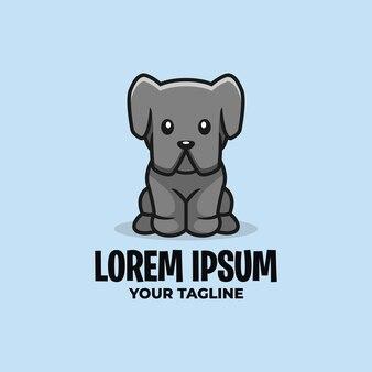 Modèle de logo de chien mignon
