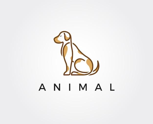 Modèle de logo de chien minimal