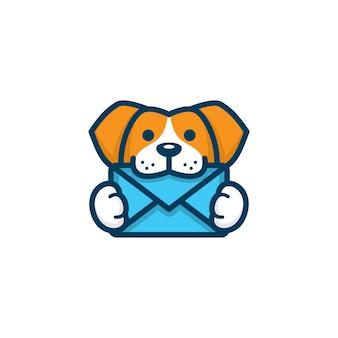 Modèle de logo de chien vétérinaire