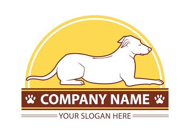 Modèle de logo de chien