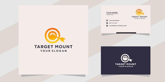 Modèle de logo de cible de montagne