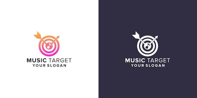 Modèle de logo de cible musicale