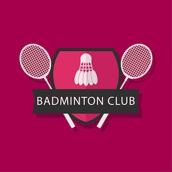 Modèle de logo de club de badminton