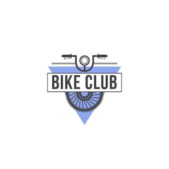Modèle de logo de club de vélo