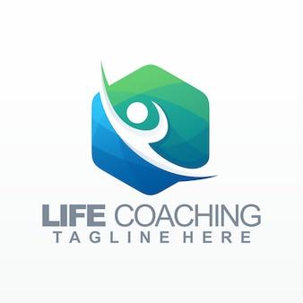 Modèle de logo de coaching de vie