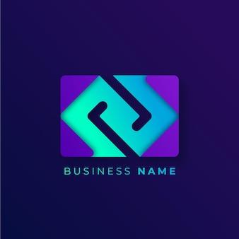 Modèle de logo de code dégradé créatif