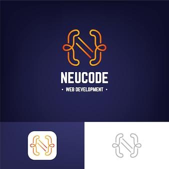 Modèle de logo de code dégradé