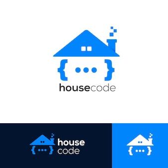 Modèle de logo de code maison