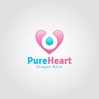 Modèle de logo de coeur pur