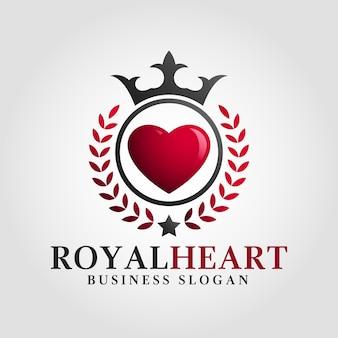 Modèle de logo coeur royal
